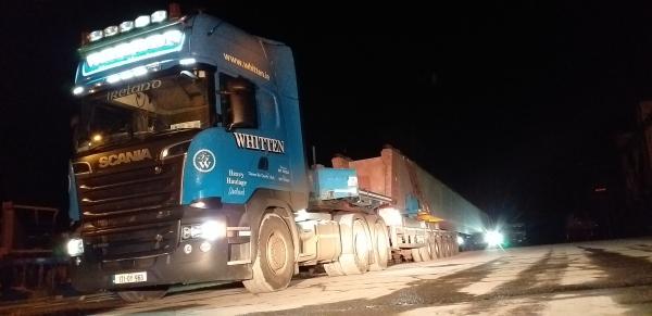 Whitten Road Haulage - 43m Beams - Banagher to Macroom - Through Birr