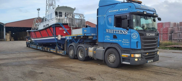 Whitten Road Haulage - Pilot Boat Cork to Tilburry Dock