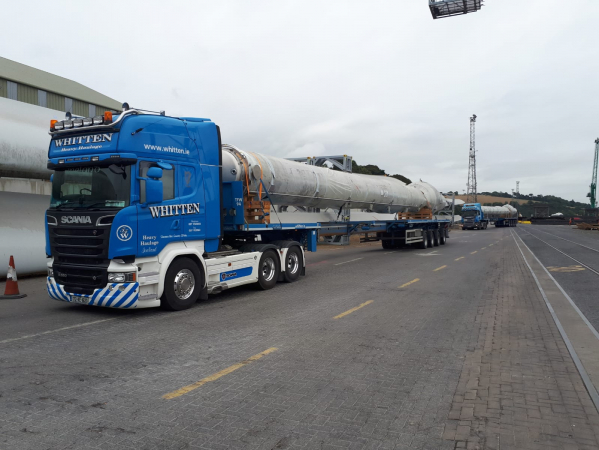 5.95m High Load moving from Belview Port, Waterford