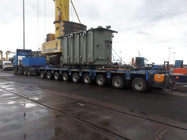 Whitten Road Haulage - 84 Tonne Transformer from Dublin Port