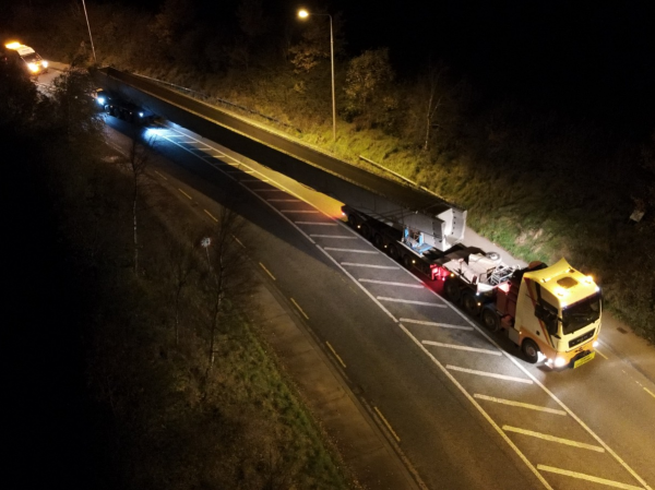 Whitten Road Haulage - 43m Bridge Beams to Macroom December 2020