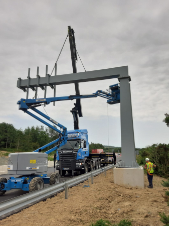 Whitten Road Haulage - Installation of Gantry's for the M50