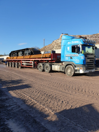 Whitten Road Haulage - Crawler crane to Macroom bypass
