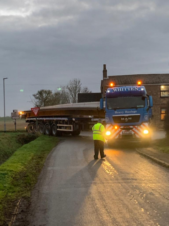 Whitten Road Haulage - 16m beams to Gilberdyke