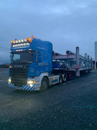 Whitten Road Haulage - Ringaskiddy to Kildare 26m long * 4.6m wide * 4.8m high