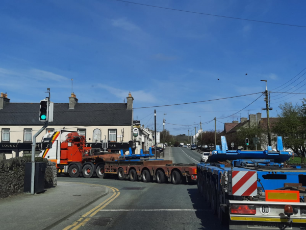 Whitten Road Haulage - Off to load beams in Banagher