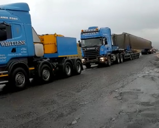 Pull up the Glenshane Pass of 43m Bridge Beams