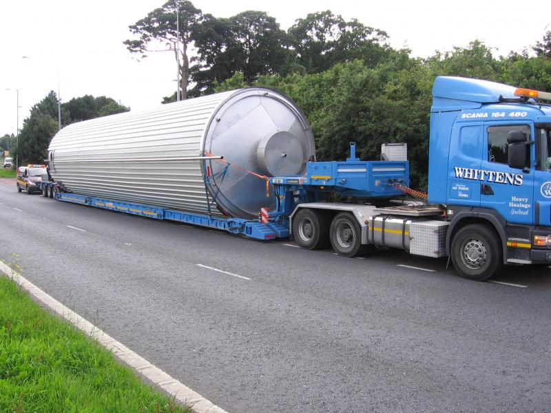 Silo tank haulage